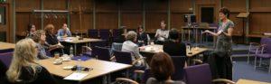 Forum members at meeting
